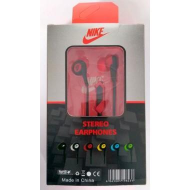 Наушники NIKE stereo earphones HS-51 в упаковке(с кнопкой ответа),красные оптом