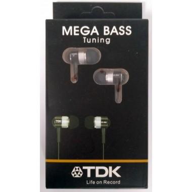 Наушники TDK MEGA BASS Tuning металлические в коробочке,черные оптом