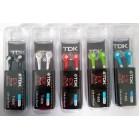 Наушники TDK EX+ T-658 в пластиковой коробочке,черные