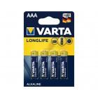 Батарейка VARTA LONGLIFE LR03 BL-4
