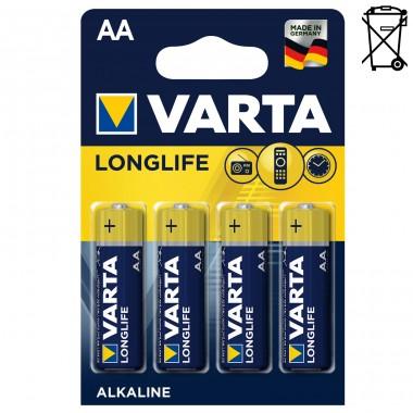 Батарейка VARTA LONGLIFE LR6 BL-4 оптом