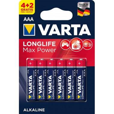 Батарейка VARTA LONGLIFE MAX POWER LR03 BL-4+2 оптом