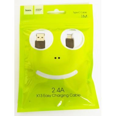 Кабель HOCO X13 USB - micro USB Type-C ,1 метр,черный оптом