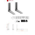 Кронштейн для ТВ КБ-01-10 для СВЧ,до 50 кг, белый/метал
