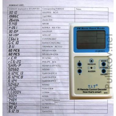IR Remote Control Decoder XY-JMY2010 (распознает 27 форматов пультов) (IC) оптом