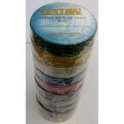 Лента изоляционная ПВХ LEXTON  Tecza , разноцветная,10 цветов,упаковка 10шт. 25m/19mm