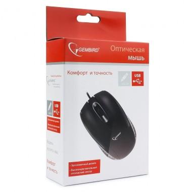 Мышь проводная Gembird MUSOPTI8-806U-1, USB, черный, 2кн., 800DPI оптом
