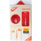 Наушники NIKE NK-631  в упаковке (с кнопкой ответа) Оранжевые