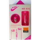 Наушники NIKE NK-631  в упаковке (с кнопкой ответа) Розовые