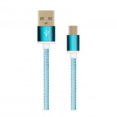OXION DCC028 дата-кабель с возможностью зарядки для Samsung USB 2.0 (M) - Micro-USB (M), 1,5м,синий оптом