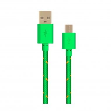 OXION DCC-288 дата-кабель с возможностью зарядки для Samsung USB 2.0 (M) - Micro-USB (M), 1м,зелёный в опл. оптом