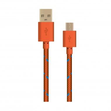 OXION DCC-288 дата-кабель с возможностью зарядки для Samsung USB 2.0 (M) - Micro-USB (M), 1м,оранжевый в опл. оптом