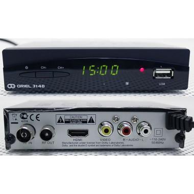 ORIEL 314 DVB-T/DVB-T2(HDMI,RCA,дисплей,металл) оптом