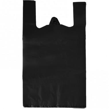 Пакет майка 51х58х23,упаковка 50 шт,черный оптом