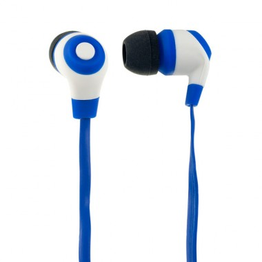Наушники Perfeo RUBBER,синие с белым оптом