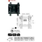 """Кронштейн для ТВ PLB-42S (диогональ 23-42""""(58-106 см),VESA 75,100,200,до 75 кг)"""