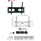 """Кронштейн для ТВ PLB-43S (диогональ 37-70""""(94-178 см),VESA 610,410,8,до 75 кг)"""