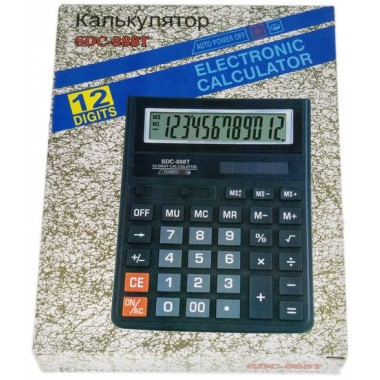 Калькулятор SDC-888T ,12-разр.,черный оптом