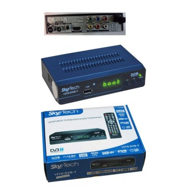 "SKYTECH 157G DVB-T2(дисплей,кнопки ""CH+"",""CH-"",""ON/OFF"";HDMI, RCA, AUDIO R/L,RF IN, RF LOOP,металл) оптом"