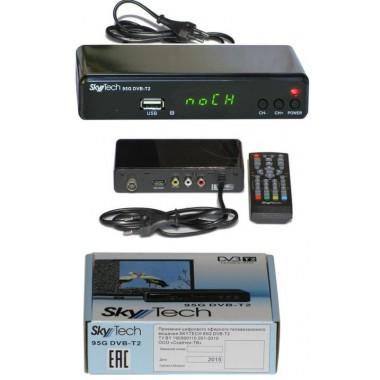 "SKYTECH  95G DVB-T2(дисплей,кнопки ""CH+"",""CH-"",""ON/OFF"";HDMI, RCA, AUDIO R/L,RF IN, RF LOOP,пластик) оптом"