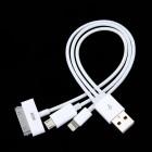 USB адаптер Gembird,3 в1,для зарядки мобильных устройств через разъемы micro-USB, iPhone4 и iPhone5,возможна передача данных